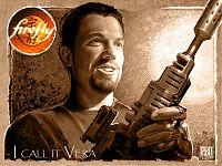 «Однажды шесть человек пришли, чтобы убить меня. Лучший из них шёл с этим оружием. Автоматическая винтовка Каллахана. Усовершенствованный спусковой крючок, максимальный калибр. Это мой самый любимый автомат».