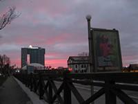Закат на фоне штаб-квартиры «Газпрома».