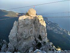 Верёвочные мосты, ведущие на зубцы Ай-Петри