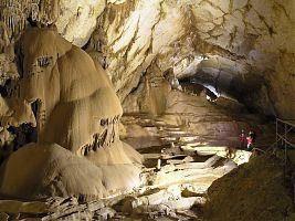 Высокие залы Мраморной пещеры
