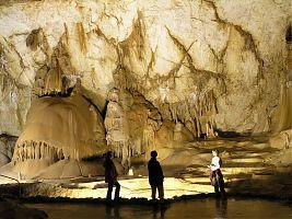 Натёчные образования пещеры Мраморная