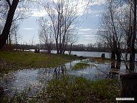 Весенний разлив Волги.