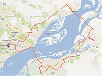 Трек маршрута. В общей сложности - 73,21 километра от дверей до дверей.