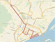 Карта велопробега.