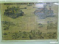 Уязвимые и поражаемые места немецкого танка T-VI «Тигр».