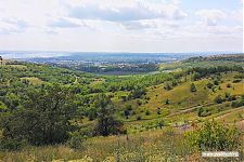 Вид на город с Кумысной поляны.