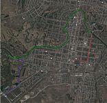 Трек байдарочного похода по Медведице в окрестностях города Петровска.