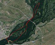 Трек похода на байдарке по Волге в окрестностях Саратова.