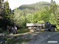 Лагерь лесорубов - конечный пункт маршрута. Дальше только на своих двоих.
