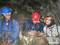 А это мы по выходе из пещеры. Усталые. Грязные. Мокрые. Довольные! А у меня в руках сувенирка на два килограмма ^^