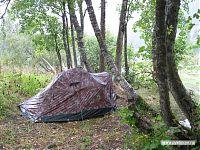 Наша бедная палаточка после дождя.