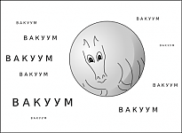 На самом деле это лошадь, так как коню мужского пола невозможно придать идеальную сферическую форму.