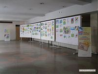 «Солнечный круг» - выставка детского антивоенного рисунка.