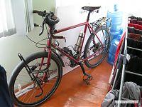 На этом велосипеде приехал мужик из Новой Зеландии - коренной бельгиец, эмигрировавший ради островного заповедника.