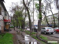 Обычная улица после освежающего дождя.